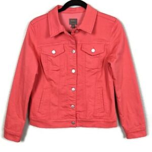 New-Stitch-Fix-Mix-by-41-Hawthorn-Coral-Denim-Jacket-Small-New-with-Tags
