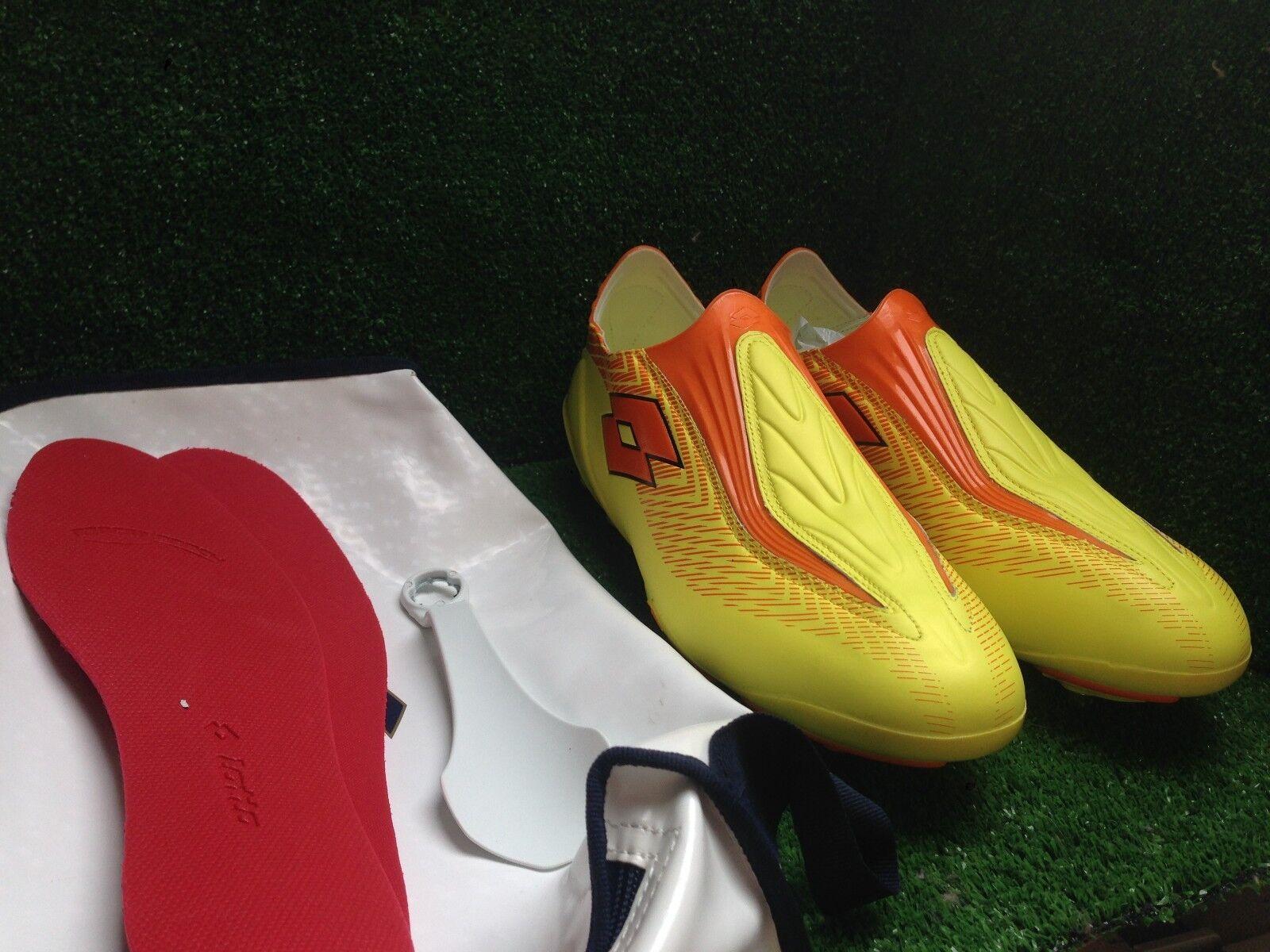 Lotto Zhero Gravity FG botas De Fútbol Zapato Amarillo Tacos 12 11