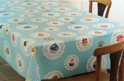 Wachstuch Tischdecke eckig rund oval abwaschbar Cupcakes Muffin blau K-150017