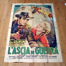 L'ASCIA DI GUERRA poster manifesto The Yellow Tomahawk Western Rory Calhoun G3