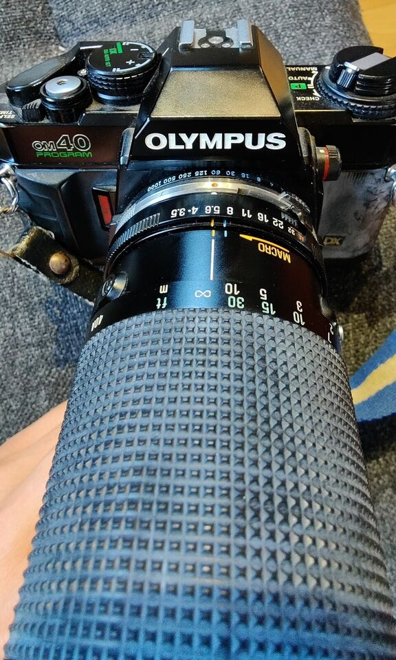 Olympus, OM40 Program m/ objektiv, spejlrefleks