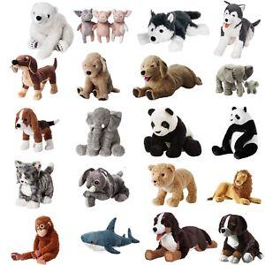 Details About Ikea Soft Toys Panda Shark Elephant Dog Animals Kids Christmas Plush Cuddly Toy