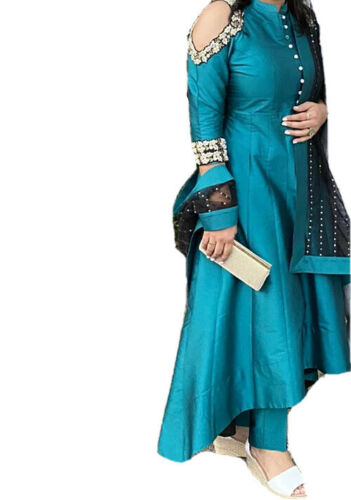 Indian pakistani Anaarkali Suit Tale green Punjabi