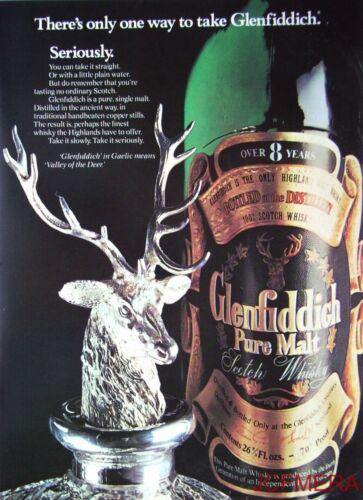 Original Print AD 1978//79 GLENFIDDICH Pure Malt Scotch Whisky Advert #9