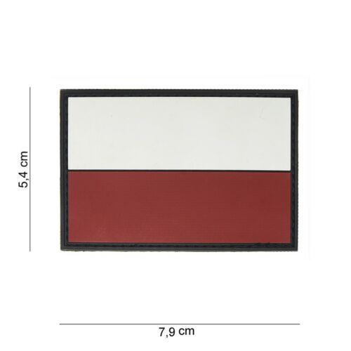 PVC Polonia Bandiera Bandiera Patch VELCRO LOGO Airsoft Paintball TACTICAL SOFTAIR
