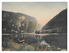 """Delaware Water Gap PA Hausers Souvenir Store Hand Colored Litho Card 7 3/4"""" X 6"""""""