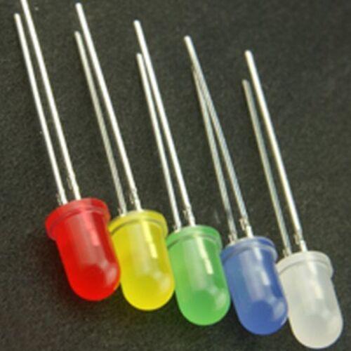 5mm diffuse LED bleue Pack de 5