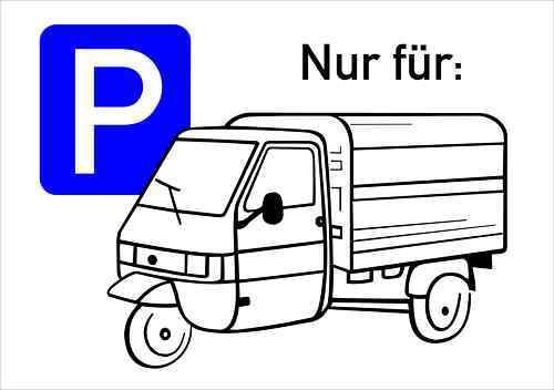Parkplatzschild Ape 300 x 200 mm witterungsbeständig