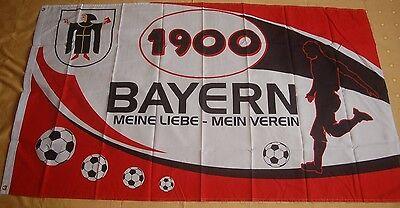 Bayern 1900 Meine Liebe Mein Verein Fußball Fanflagge Fan Fahne 150 X 90 Cm Auswahlmaterialien