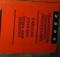 2000 PLYMOUTH VOYAGER TRANSMISSION Diagnostic Procedure Manual OEM