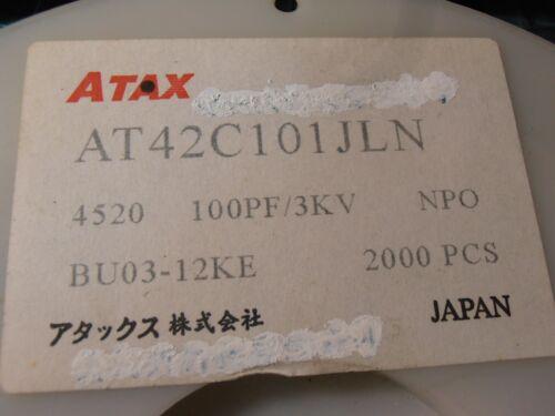 100pf ±5/%  3000V  NP0   ATAX 40PCS AT42C101JLN  MLCC 1808 4520