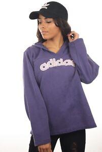 Vintage-Women-039-s-ADIDAS-Spell-Out-Hoodie-Sweatshirt-Retro-Original-UK-18