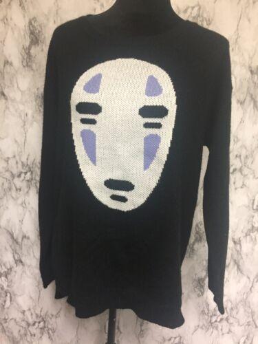 Spirited Away Studio Ghibli Size M Black Knit Pull