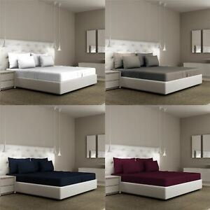 Extra-Deep-Egyptian-100-Fitted-Sheets-Bed-Sheets-Pillow-Cases-Double-King