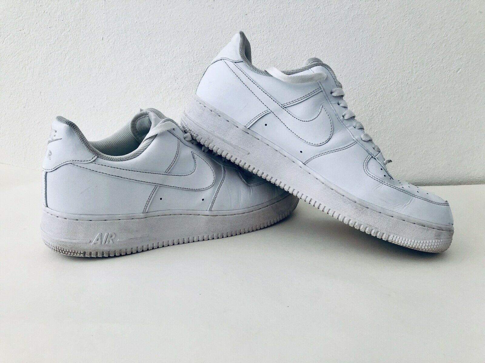 Nike Air Force 1 - Lows, White Leather, Very Good Condition. Men's Size 13