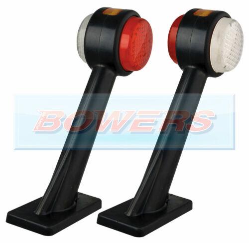 2x LED AUTOLAMPS 1005 12V//24V FRONT REAR /& SIDE STALK MARKER LAMPS//LIGHTS L R
