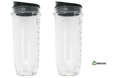 32 Ounce Cup with Sip N Seal Lids Compatible with Ninja Auto-iQ iQ 10 2 Pack