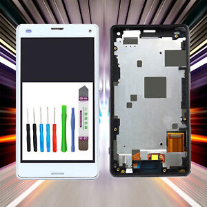 Display-fuer-Original-Sony-Xperia-Z3-Compact-D5803-LCD-TouchScreen-Weiss-RAHMEN