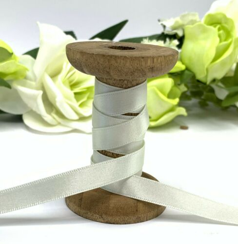 Cream Double Satin Ribbon 10mm 25mm Wedding Bow Gift Hair Bridal Sash Invitation