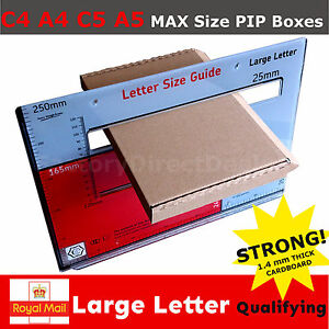 Royal Mail Large Letter Box A5 C5 A4 C4 PIP Postal Shipping Cardboard Boxes