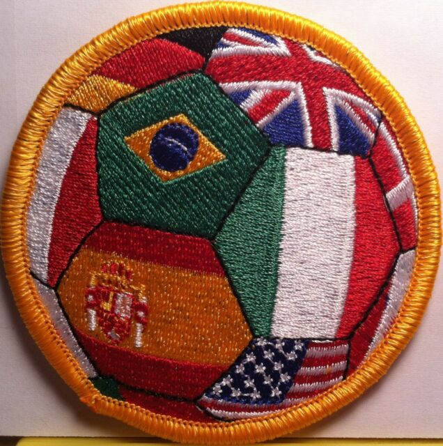 Germany Spain and more Iron-On Patch USA World Soccer Ball Brazil Italy