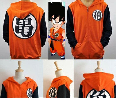 Dragonball Z Son Goku Clothing Hooded Sweatshirt Cosplay Hoodie Cotton Blend GUI