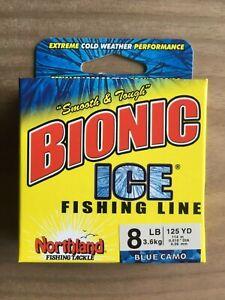3 lb Bionic Ice® Fishing Line Blue Camo Northland Fishing Tackle 125 yd