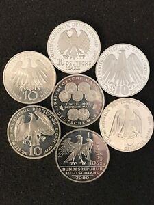 """Münzring aus 10 Mark mit Ihrer gewünschter Jahreszahl /""""1998-2001/"""" Silber"""
