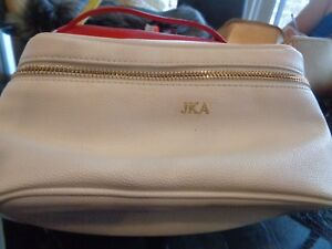 f1210439b87f Mark and Graham vegan Travel Universal Travel Cosmetic Case mono JKA ...