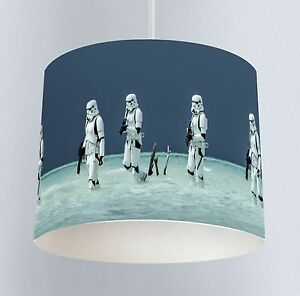 Image Is Loading Starwars Stormtroopers 026 Boys Bedroom Drum Lampshade Light