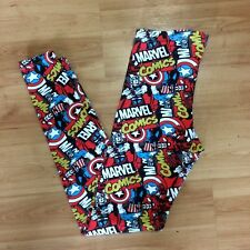 228441525c Girl Marvel Captain America Thor Iron Man Comic Pants leggings Small 9/10