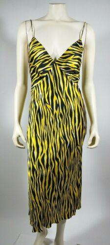 OLIVIA VON HALLE Black Yellow Striped Electra Issa