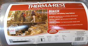 Therm-a-Rest-Hiker-Ground-Pad-72-034-Sleeping-Mat-Regular-Self-Inflating-IR-gry