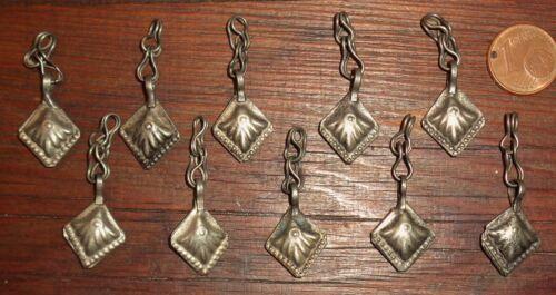 10 Pendentifs Breloques Ethnique Afghanistan Métal Ethnic Beads Pendants Charms