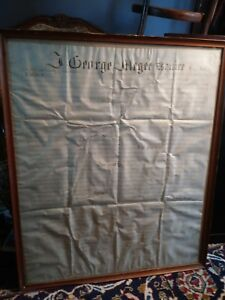 Framed-Philadelphia-INDENTURE-1856-32-by-27-034-George-McGee-High-Sheriff