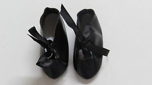Zapatos Largo 95 Amplio 37 polipiel negro para muñecas antiguas
