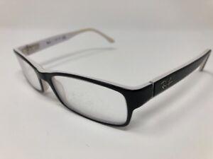 6e5b4a58adb39 Ray Ban RB 5114 2097 Black White Eyeglasses Frames 52 16 135 Unisex ...