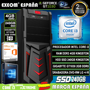 Ordenador-Gaming-Pc-Intel-i3-4GB-SSD-240GB-GT1030-2Gb-Wifi-Sobremesa-Windows-10