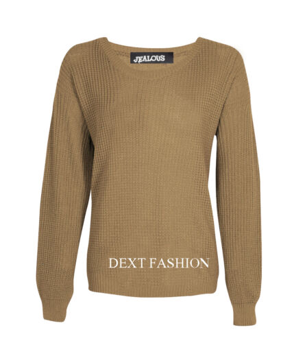 WOMENS OVERSIZE BAGGY CHUNKY FISHERMAN KNIT LONG SLEEVE TOP JUMPERS PLUS SIZE