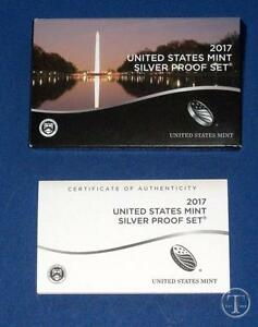2017-SILVER-Proof-Set-Replacement-Box-COA-ONLY-NO-COINS
