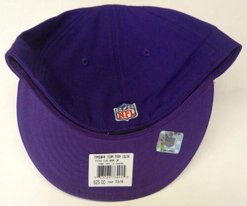 32a149f8e 1 of 2 NFL Minnesota Vikings Reebok Fitted Flat Brim Cap Hat 7 3 8 NEW!