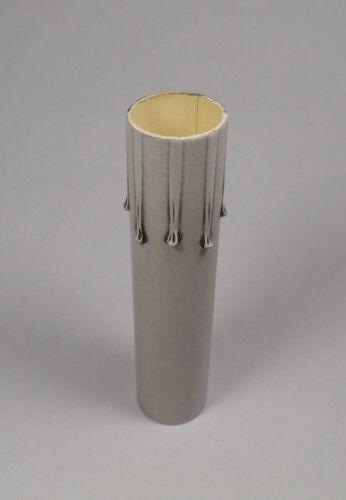 """6/"""" Silver Leaf Paper Board Candle Chandelier Lamp Socket Cover Candelabra CC973K"""