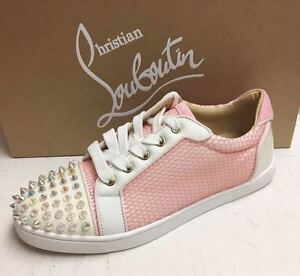 huge inventory 93b2a 4fc47 Details about Christian Louboutin Gondolita Spike Studded Toe Mesh Low-Top  Sneakers Shoes 41