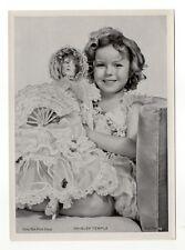 Shirley Temple 1937 Union Dresden Film Star Series 6 5X7 Cigarette Photo Card