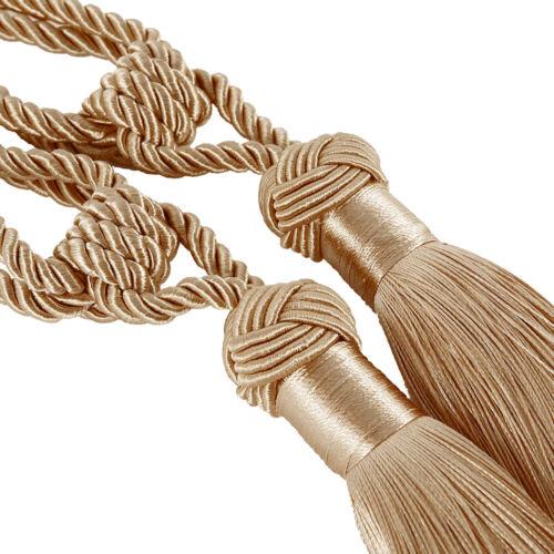Rideau Embrasses Perles Boule Grand Tassel Corde retient Home Decor Tieback UK