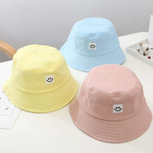 Unisex Foldable Smile Bucket Hat Outdoor Sunscreen Cap Smile Face Fisherman Hats