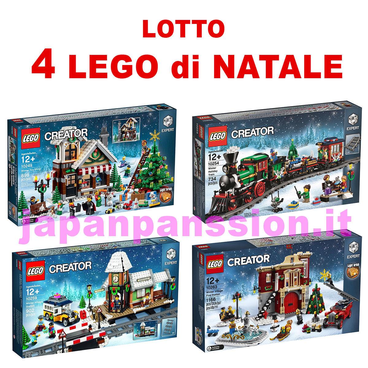 Lego Creator Collectors Christmas 10249 10254 10259 10263 Lotto Bundle New