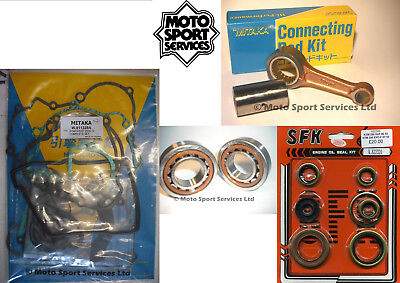 KTM 250 SXF 06-11 Mitaka Bottom End Engine Rebuild Kit Rod Mains Gasket Seal