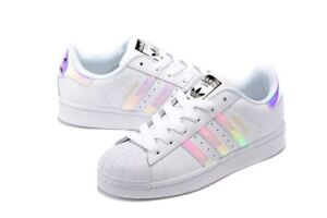 5f72169044ad Image is loading New-Adidas-Youth-Originals-Superstar-Hologram-Iridescent- Shoes-