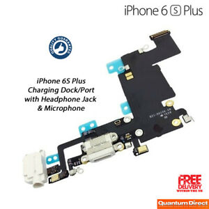 Details About New Iphone 6s Plus Charging Port Lightning Headphone Jack Replacement White
